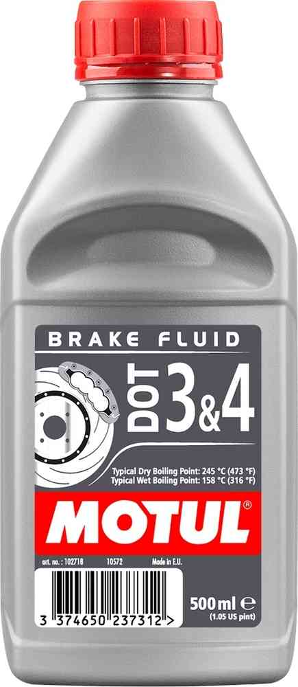 MOTUL DOT 3 & 4 BRAKE FLUID 0.5ml